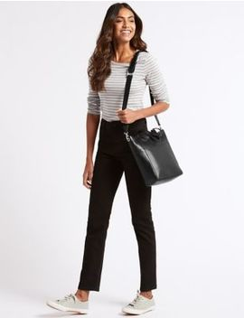 Leather Grab Tote Bag by M&S Collection