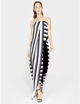 Strapless Striped Gown by Halston
