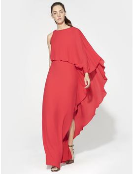 Flowy Gown With Back Cowl by Halston