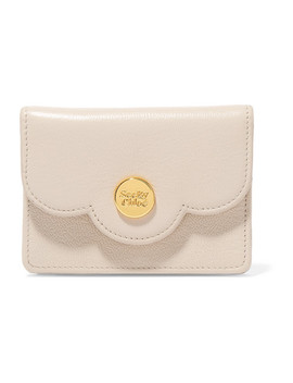 Polina Mini Scalloped Textured Leather Wallet by See By Chloé