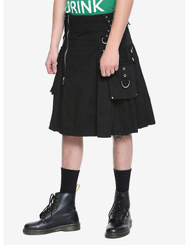 Tripp Black Kilt by Hot Topic