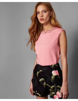 Scalloped Ladder Trim Top by Ted Baker