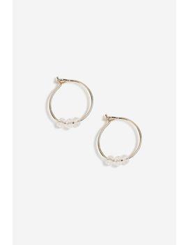 **Aroma Crystal Hoop Earrings by Topshop