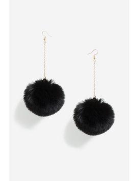 **Faux Fur Drop Earrings by Topshop