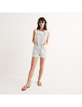 Denim Tie Strap Short Overalls by Madewell
