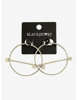 Blackheart Pierced Hoop Earrings by Hot Topic