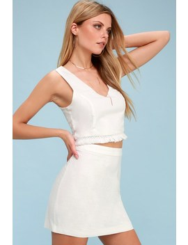 Seaside Swell White Two Piece Dress by Lulus
