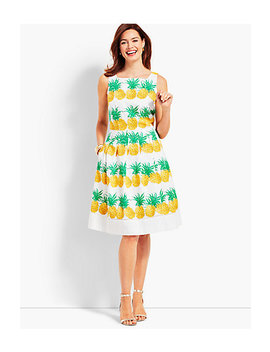Fresh Pineapple Fit And Flare Dress by Talbots