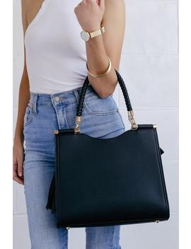Calbira Black Handbag by Lulus