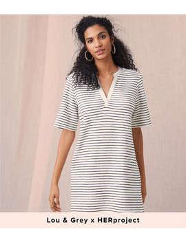 Lou & Grey Brushstripe Pocket Dress by Loft