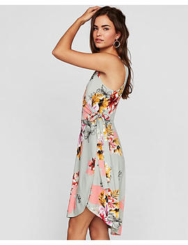Floral Surplice Wrap Midi Dress by Express