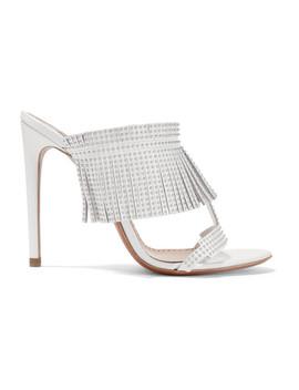110 Studded Fringed Leather Sandals by Alaïa