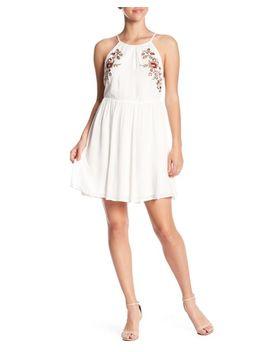Women's White Floral Babydoll Dress by Lush