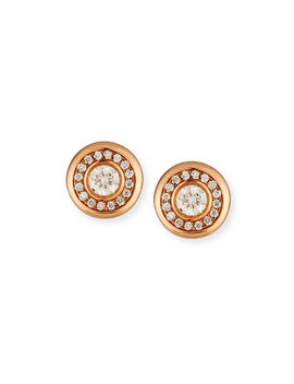 18k Gold Diamond Stud Earrings by Roberto Coin