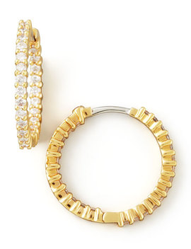 22mm Yellow Gold Diamond Hoop Earrings, 1ct by Roberto Coin