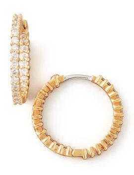 22mm Rose Gold Diamond Hoop Earrings, 1ct by Roberto Coin