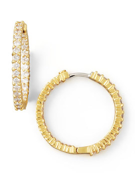 25mm Yellow Gold Diamond Hoop Earrings, 1.53ct by Roberto Coin
