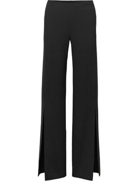 Zaber Wide Leg Stretch Cady Pants by The Row