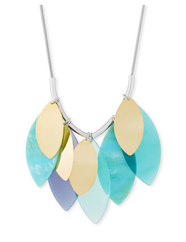 Multi Leaf Long Statement Necklace by Lafayette 148 New York