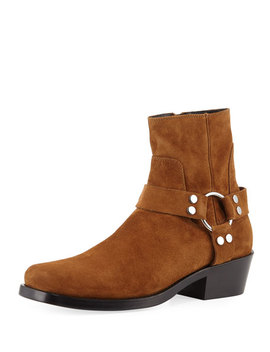 Men's Suede Harness Boot by Balenciaga
