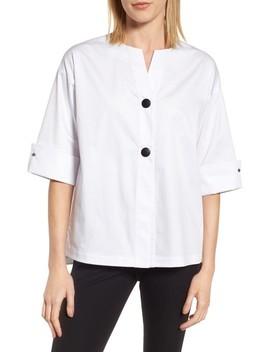 Woven Shirt Jacket by Ming Wang
