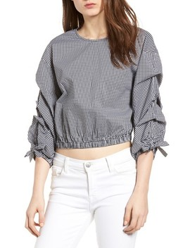 Bishop + Young Ruched Sleeve Blouse by Bishop And Young