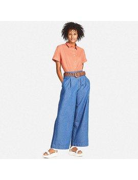 Women Soft Cotton Short Sleeve Shirt by Uniqlo