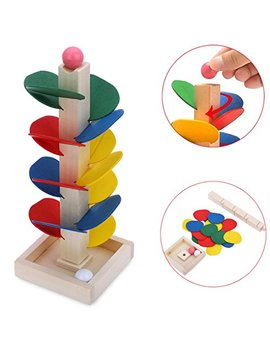 Vibola Montessori Educational Toy Blocks Wooden Tree Marble Ball Run Track Game Baby Kids Children Intelligence Wooden Baby Toys by Vibola®