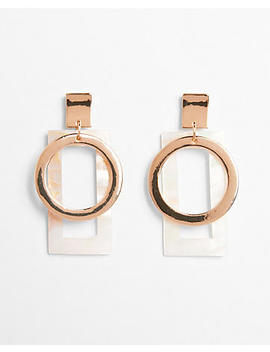 Layered Geometric Drop Earrings by Express
