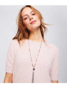 Beaded Tassel Pendant Necklace by Loft