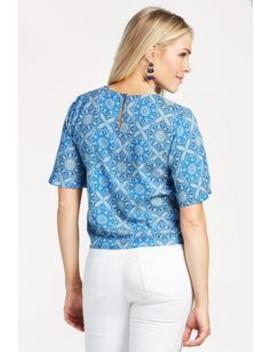 Embry Ss Tie Front Floral Top by Evereve