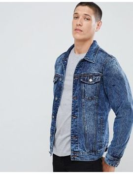 Pull&Bear Denim Jacket In Black by Pull&Bear