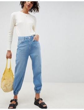 Asos Design Denim Track Pant In Light Vintage Wash by Asos Design
