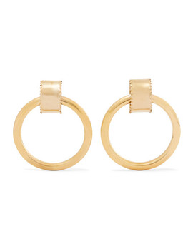Ruota Gold Tone Hoop Earrings by Laura Lombardi