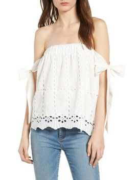 Bishop + Young Eyelet Off The Shoulder Top by Bishop And Young