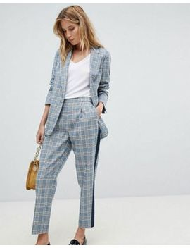 Oasis Check Tailored Blazer & Pants Suit by Asos Brand