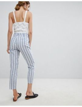 Mango Stripe Relaxed Pants by Mango