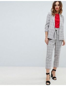 Sisley Pink Check Suit by Asos Brand