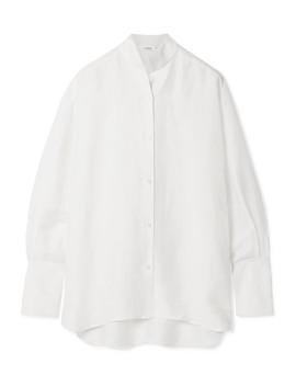 Oversized Linen Blend Shirt by Frame