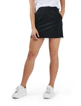 Raw Hem A Line Denim Skirt by Topshop