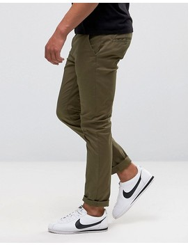 Asos 2 Pack Skinny Chinos In Khaki & Navy Save by Asos