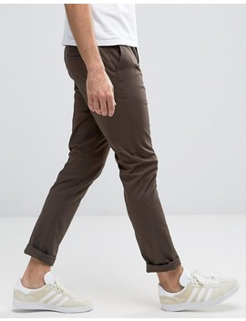 Asos 2 Pack Skinny Chinos In Navy & Brown Save by Asos