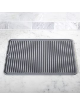 Silicone Grey Drying Mat by Crate&Barrel