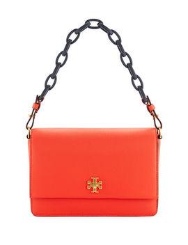 Kira Grain Leather Shoulder Bag by Tory Burch