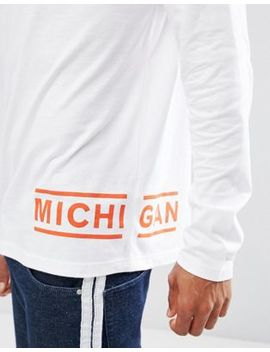 Asos Long Sleeve T Shirt With Michigan Hem Print by Asos