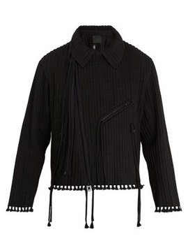 Piped Cotton Biker Jacket by Craig Green