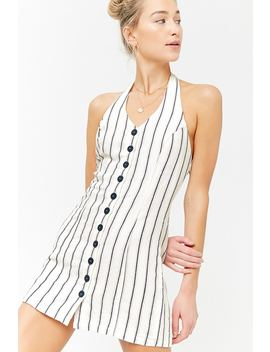 Striped Halter Dress by F21 Contemporary