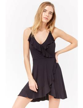 Ruffle Surplice Cami Dress by F21 Contemporary
