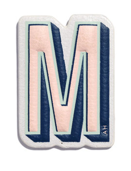 """""""M"""" Leather Sticker For Handbag by Neiman Marcus"""