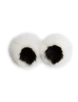 Eyes Mink Sticker For Handbag, White by Anya Hindmarch
